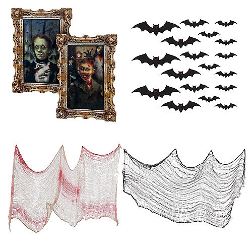 Haunted House Portrait Gallery Wall Decorating Kit Image #1