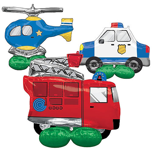 AirLoonz First Responders Foil Balloon Set, 3pc Image #1