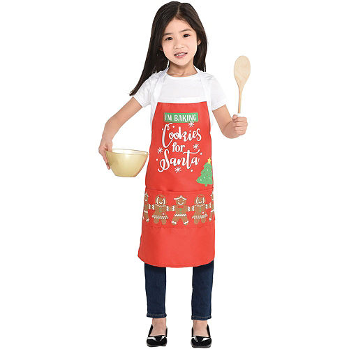 Child & Me Santa's Reindeer Cookie Decorating Kit with Aprons Image #7