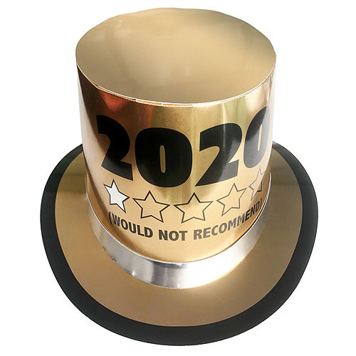 Black & Gold FU 2020 New Year's Party Kit for 16 Guests Image #2