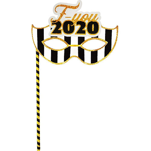 Black & Gold FU 2020 New Year's Party Kit for 16 Guests Image #5