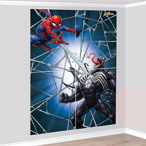 Spider-Man Webbed Wonder Scene Setter, 55.6in x 80.2in, 4pc Image #1