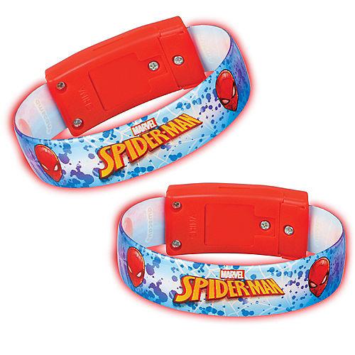 Light-Up Spider-Man Webbed Wonder Bracelets, 4ct Image #1