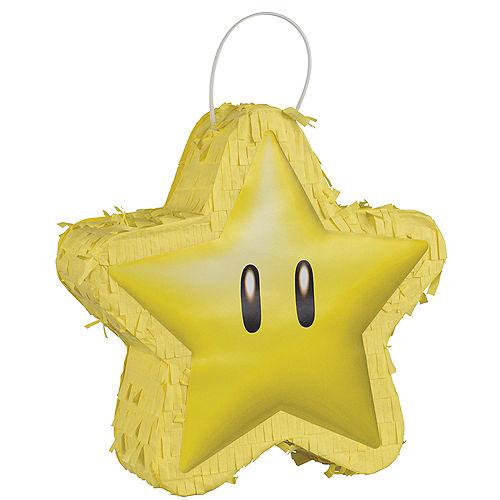 Super Star Mini Pinata Decoration, 6.5in - Super Mario Image #1