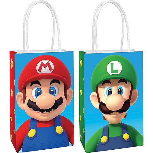 Mario & Luigi Kraft Favor Bags, 5.25in x 8.3in, 8ct - Super Mario Image #1