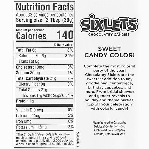 Black Chocolate Sixlets, 35oz Image #3