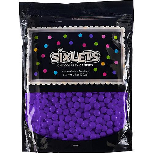 Purple Chocolate Sixlets, 35oz Image #1