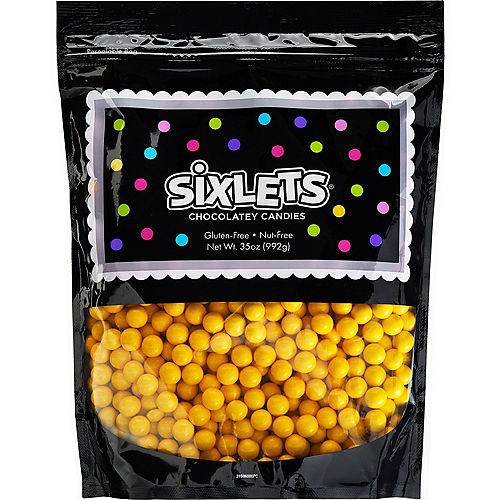 Yellow Chocolate Sixlets, 35oz Image #1