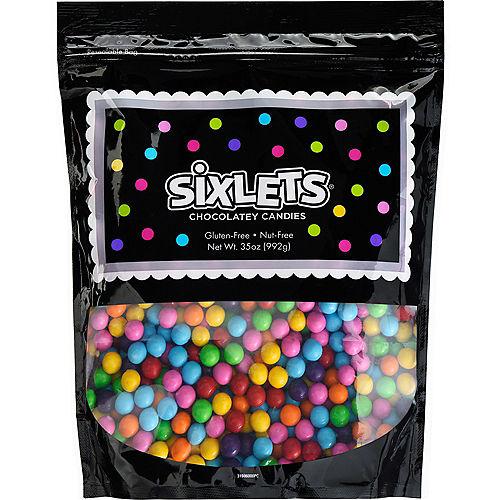 Rainbow Chocolate Sixlets, 35oz Image #1