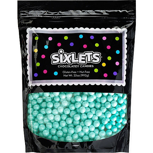 Blue Chocolate Sixlets, 35oz Image #1