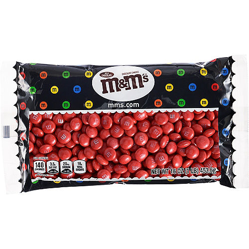 Red Milk Chocolate M&M's, 16oz Image #1