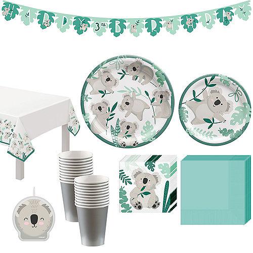 Koala Birthday Tableware Kit for 8 Guests Image #1