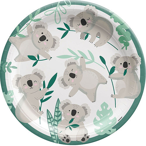 Koala Birthday Tableware Kit for 8 Guests Image #3