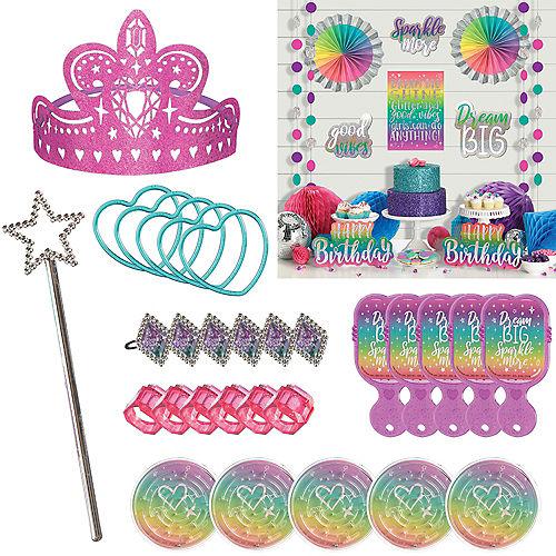 Sparkle Birthday Room Decorating & Favor Kit Image #1