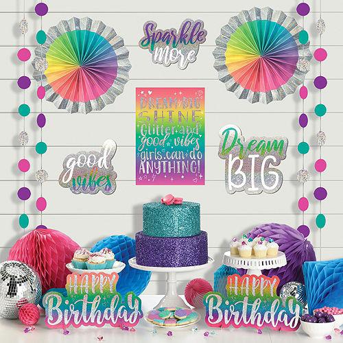 Sparkle Birthday Room Decorating & Favor Kit Image #3