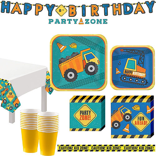 Construction Birthday Party Kit for 16 Guests Image #1