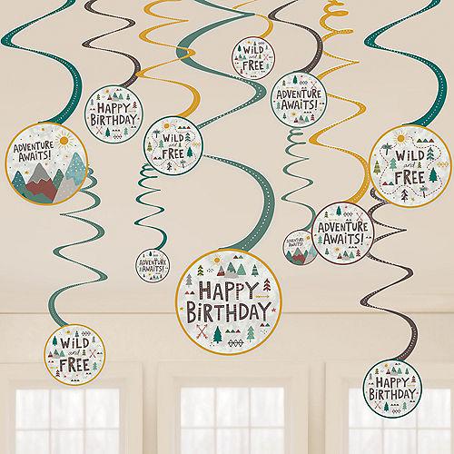 Wilderness Birthday Swirl Decorations, 12ct Image #1