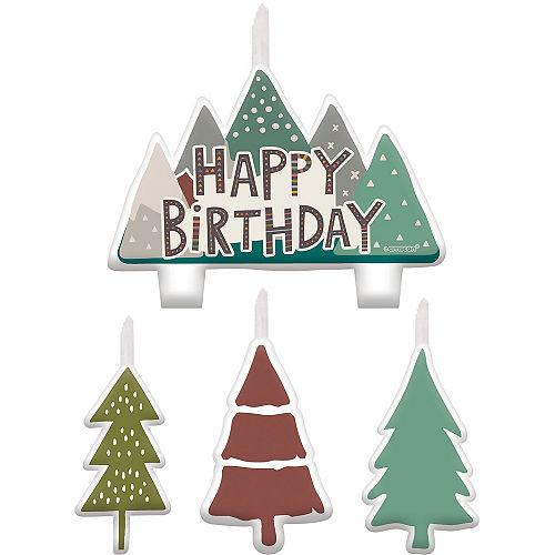 Wilderness Birthday Candles, 4pc Image #1