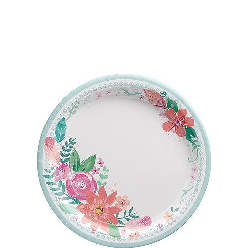 Free Spirit Boho Paper Dessert Plates, 7in, 8ct Image #1