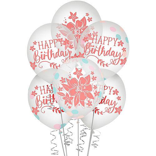 Free Spirit Boho Birthday Confetti Latex Balloons, 12in, 6ct Image #1