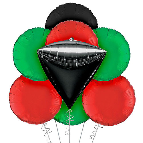Kwanzaa Balloon Bouquet, 9pc Image #1