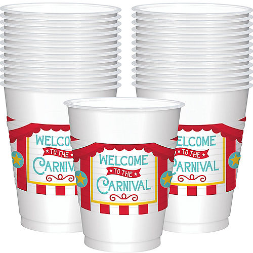 Carnival Plastic Cups 25ct Image #1