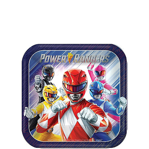 Power Rangers Classic Paper Dessert Plates, 7in, 8ct Image #1