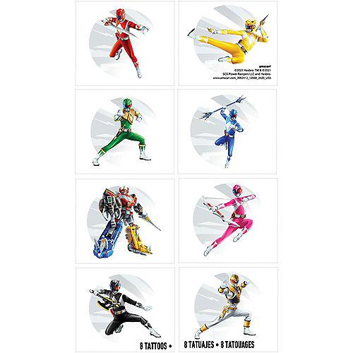 Power Rangers Classic Temporary Tattoos, 8ct Image #1