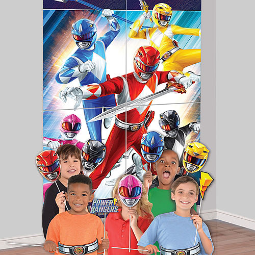 Power Rangers Classic Plastic & Cardstock Photo Booth Kit, 4.6ft x 6.7ft Image #1