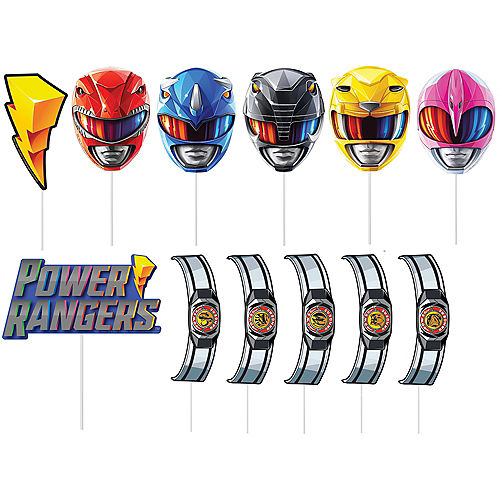 Power Rangers Classic Plastic & Cardstock Photo Booth Kit, 4.6ft x 6.7ft Image #2