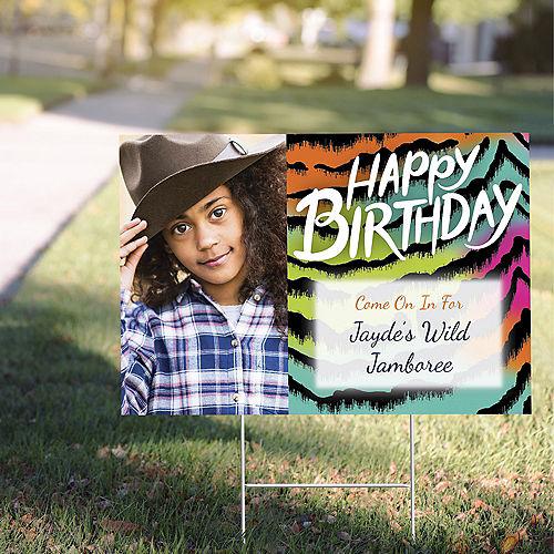 Custom Wild Child Photo Yard Sign Image #1
