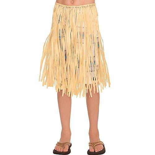 Child Natural Grass Hula Skirt Image #1