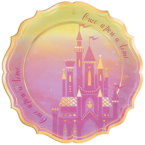 Metallic Disney Once Upon a Time Dinner Plates 8ct Image #1