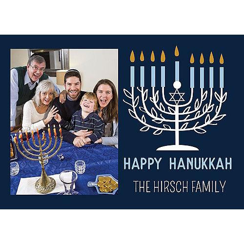 Custom Menorah Hanukkah Photo Cards Image #1