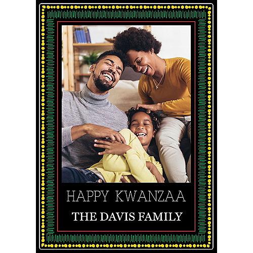 Custom Kwanzaa Border Photo Cards Image #1