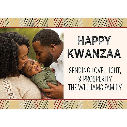 Custom Kraft Kwanzaa Photo Cards Image #1