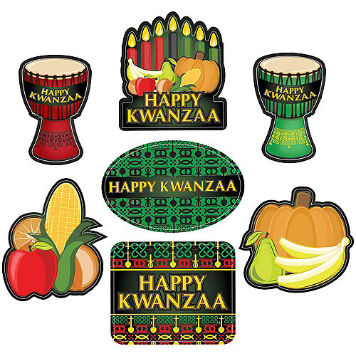 Happy Kwanzaa Cling Decals 7ct Image #1