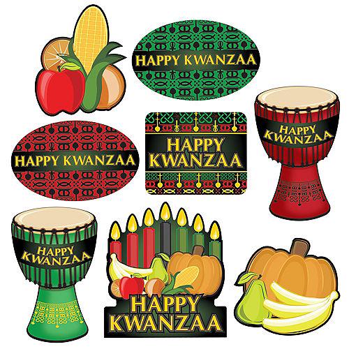 Happy Kwanzaa Cutouts 8ct Image #1