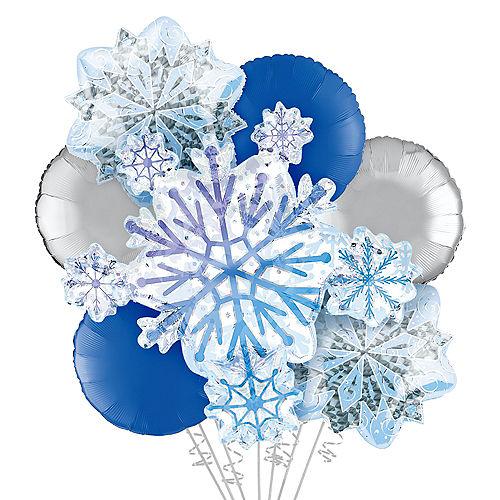 Shimmering Snowflakes Foil Balloon Bouquet, 7pc Image #1