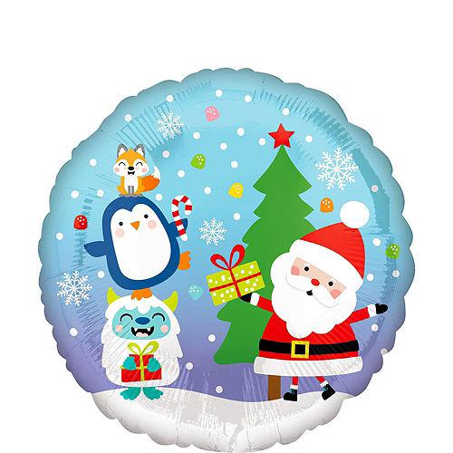 Christmas Snow Globe Foil Balloon Bouquet, 9pc Image #4