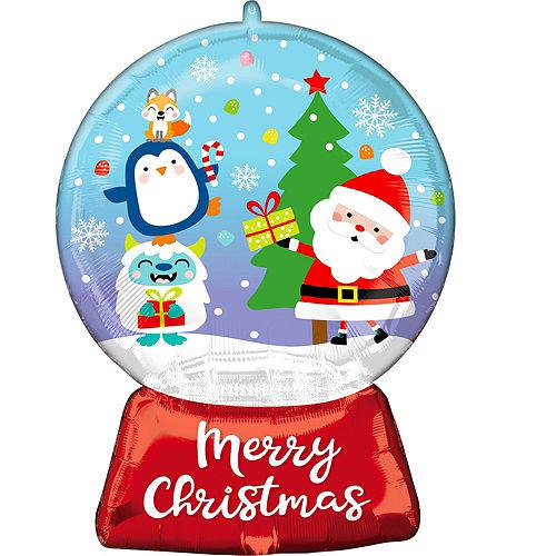Christmas Snow Globe Foil Balloon Bouquet, 9pc Image #5