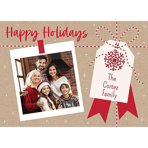 Custom Kraft Happy Holidays Photo Cards Image #1