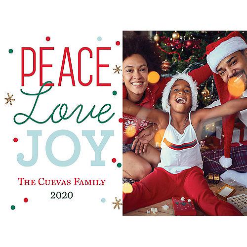 Custom Peace & Joy Holiday Photo Cards Image #1