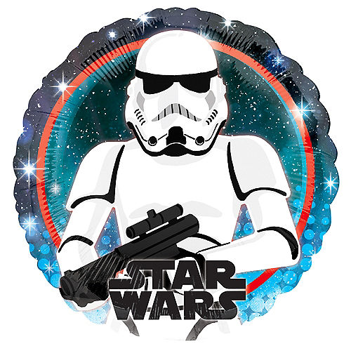 Stormtrooper Foil Balloon, 18in - Star Wars Galaxy of Adventures Image #1