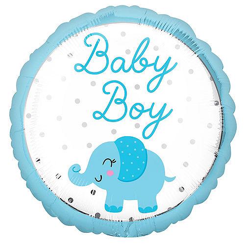 Blue Elephant Baby Boy Foil Balloon, 18in Image #1