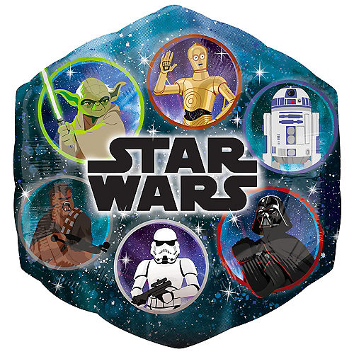 Star Wars Galaxy of Adventures Hexagonal Foil Balloon, 22in x 23in Image #1