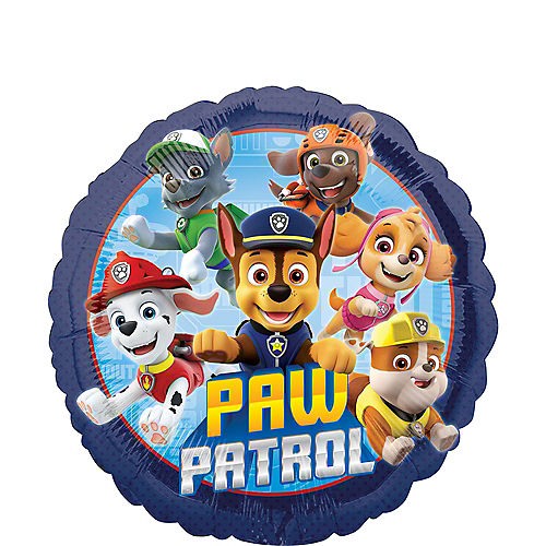 PAW Patrol Round Foil Balloon, 18in Image #1