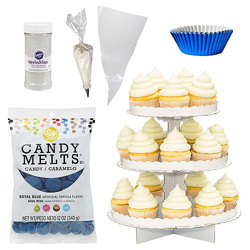 Blue Cupcake Decorating Kit Image #1