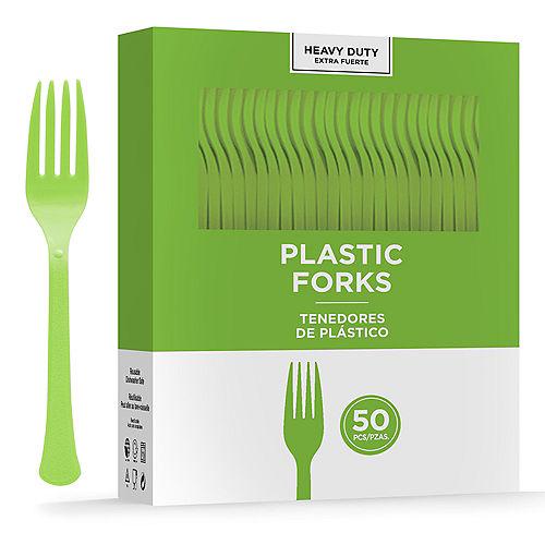 Kiwi Green Heavy-Duty Plastic Forks, 50ct Image #1