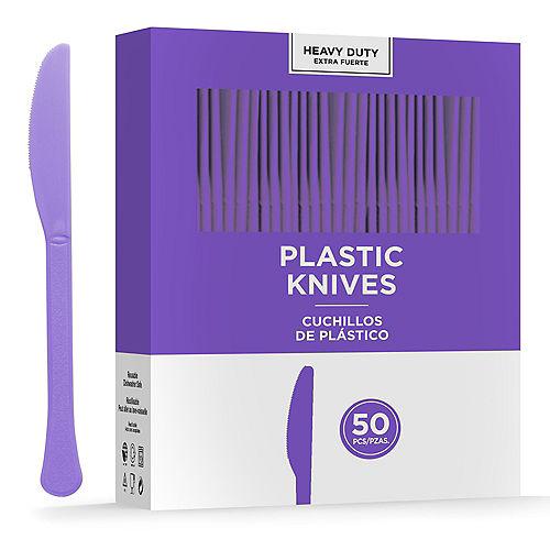 Purple Heavy-Duty Plastic Knives, 50ct Image #1